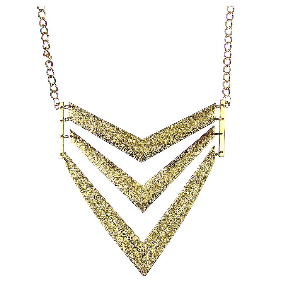 Gold V Pendant Necklace Image #1