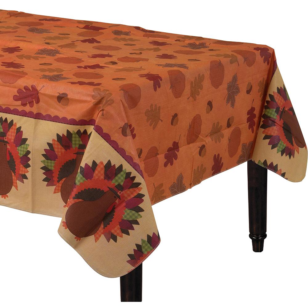 Thanksgiving Dinner Flannel-Backed Vinyl Table Cover Image #1