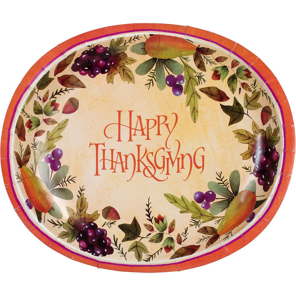 Thanksgiving Medley Platters 8ct Image #1