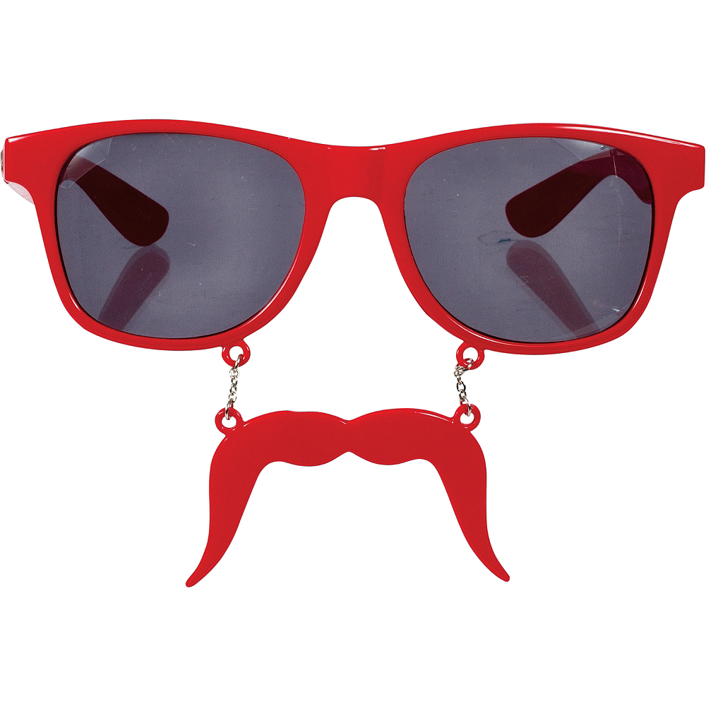 Red Handlebar Sun-Staches Image #1