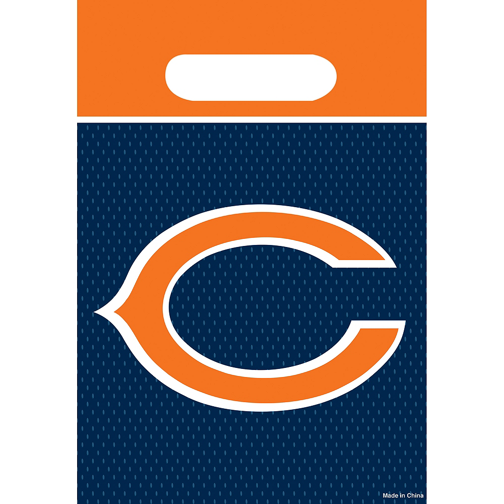 Chicago Bears Favor Bags 8ct Image #1