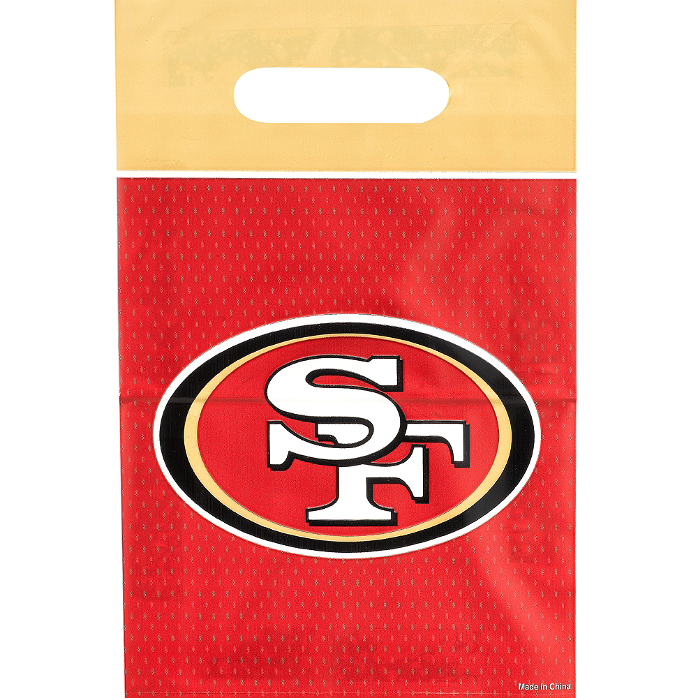 Nav Item for San Francisco 49ers Favor Bags 8ct Image #1