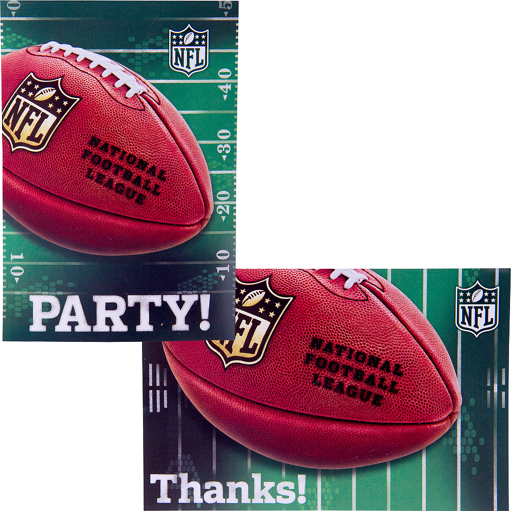 NFL Invitations & Thank You Notes For 8 Image #1