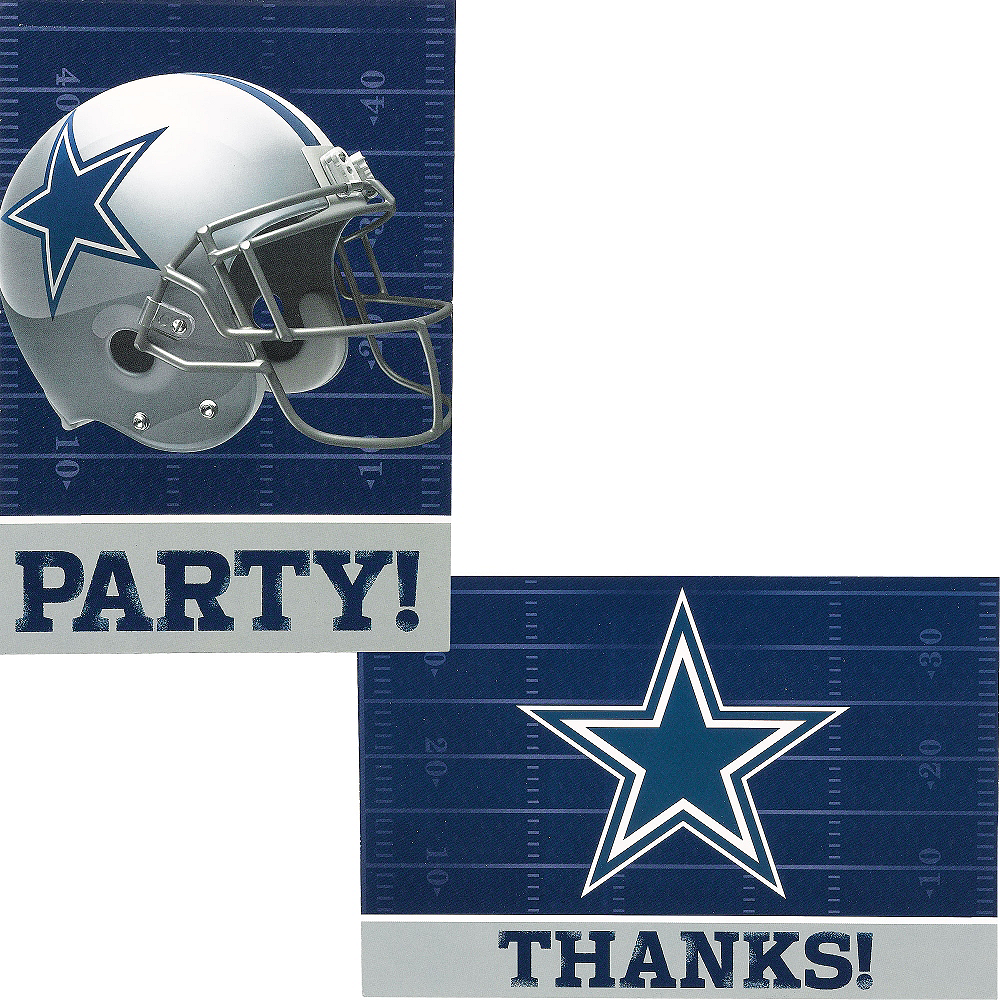 Nav Item for Dallas Cowboys Invitations & Thank You Notes For 8 Image #1