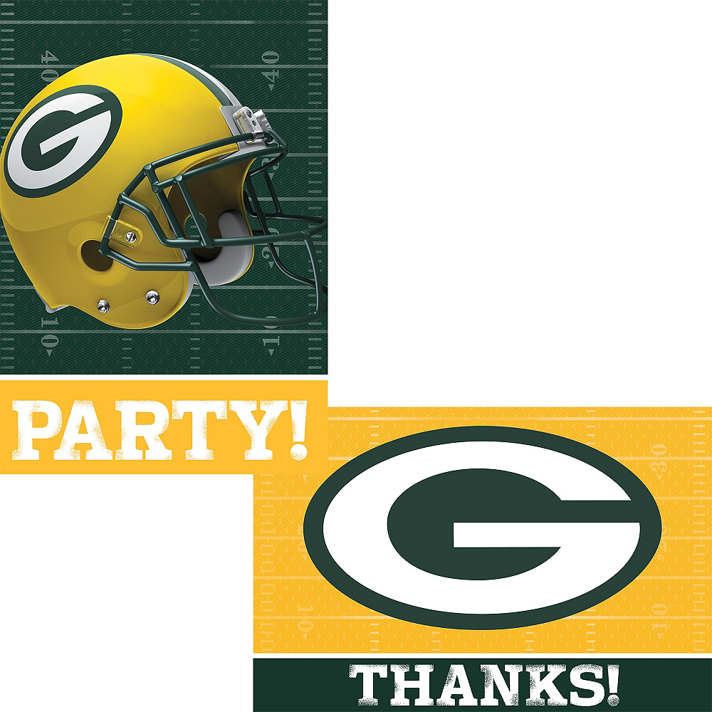 Green Bay Packers Invitations & Thank You Notes For 8 Image #1