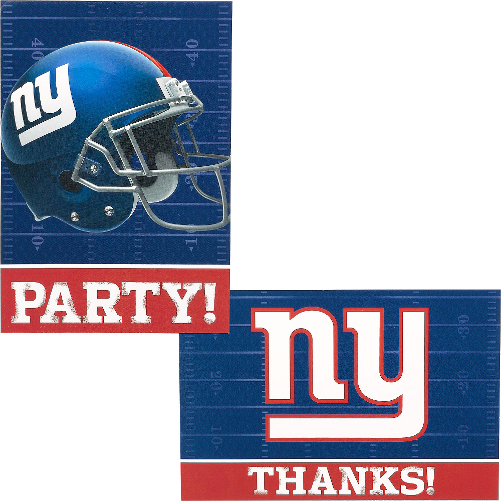 New York Giants Invitations & Thank You Notes For 8 Image #1