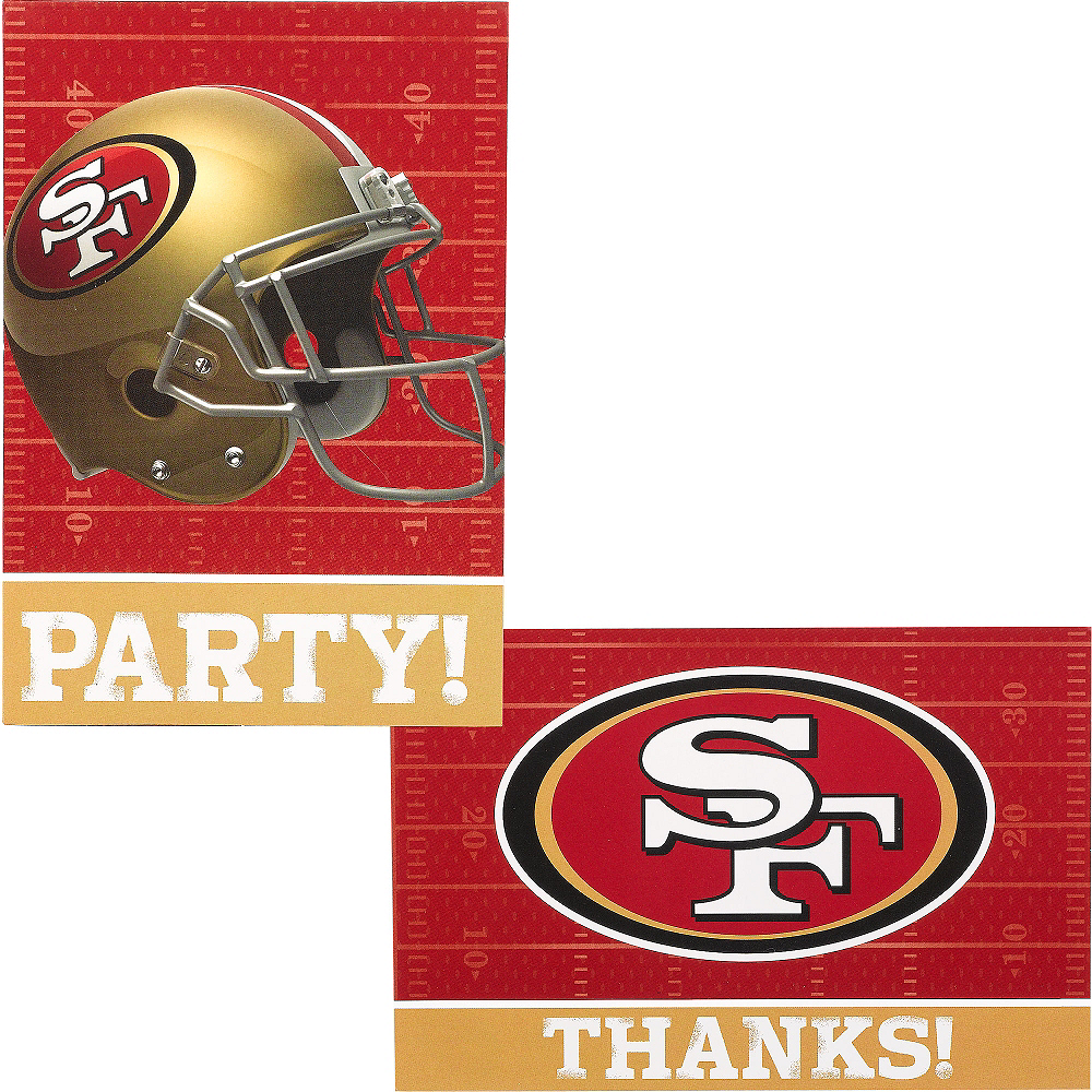 San Francisco 49ers Invitations & Thank You Notes For 8 Image #1