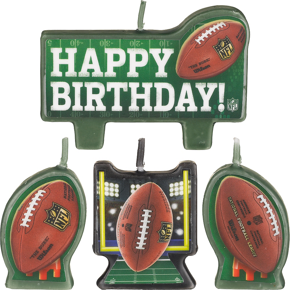 NFL Birthday Candles 4ct Image #1