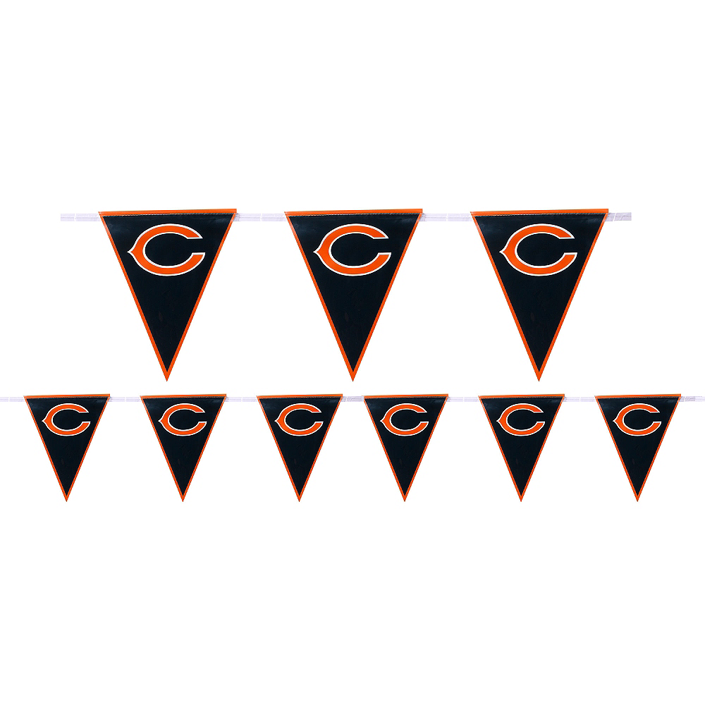 Nav Item for Chicago Bears Pennant Banner Image #1