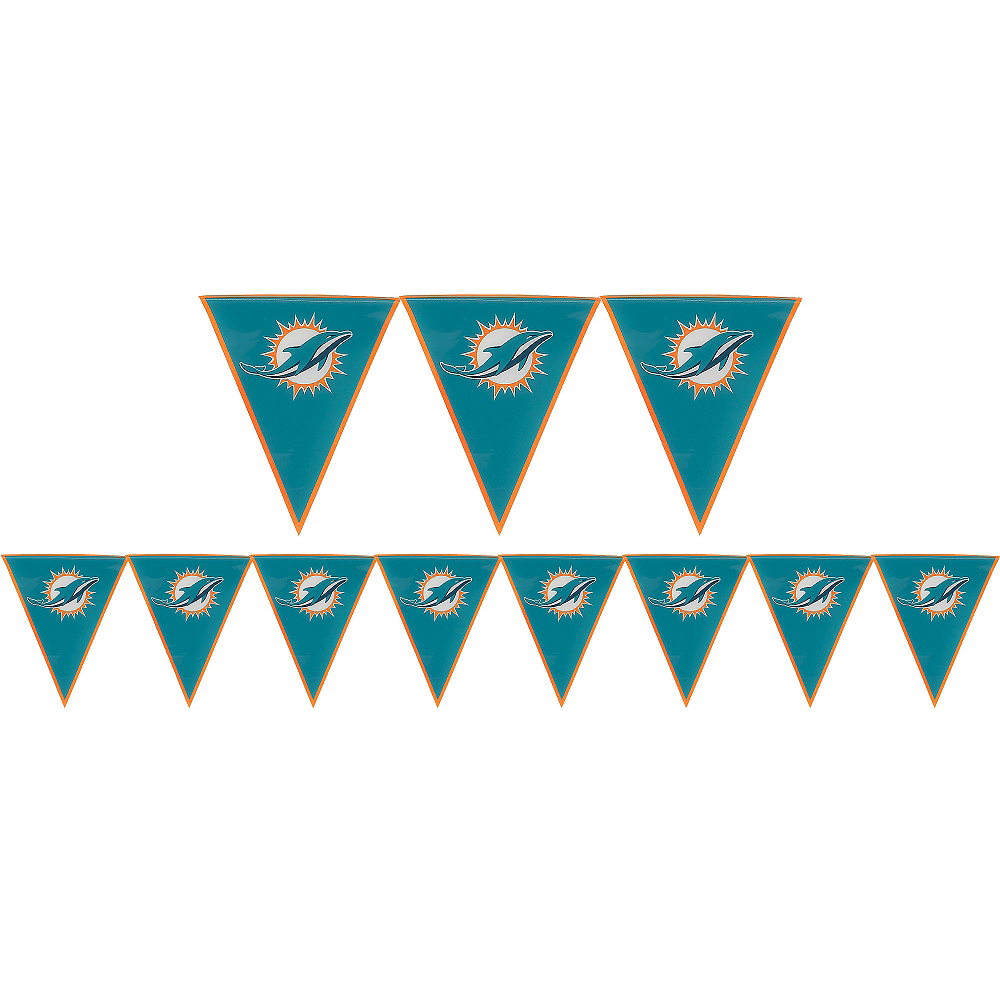 Miami Dolphins Pennant Banner Image #1