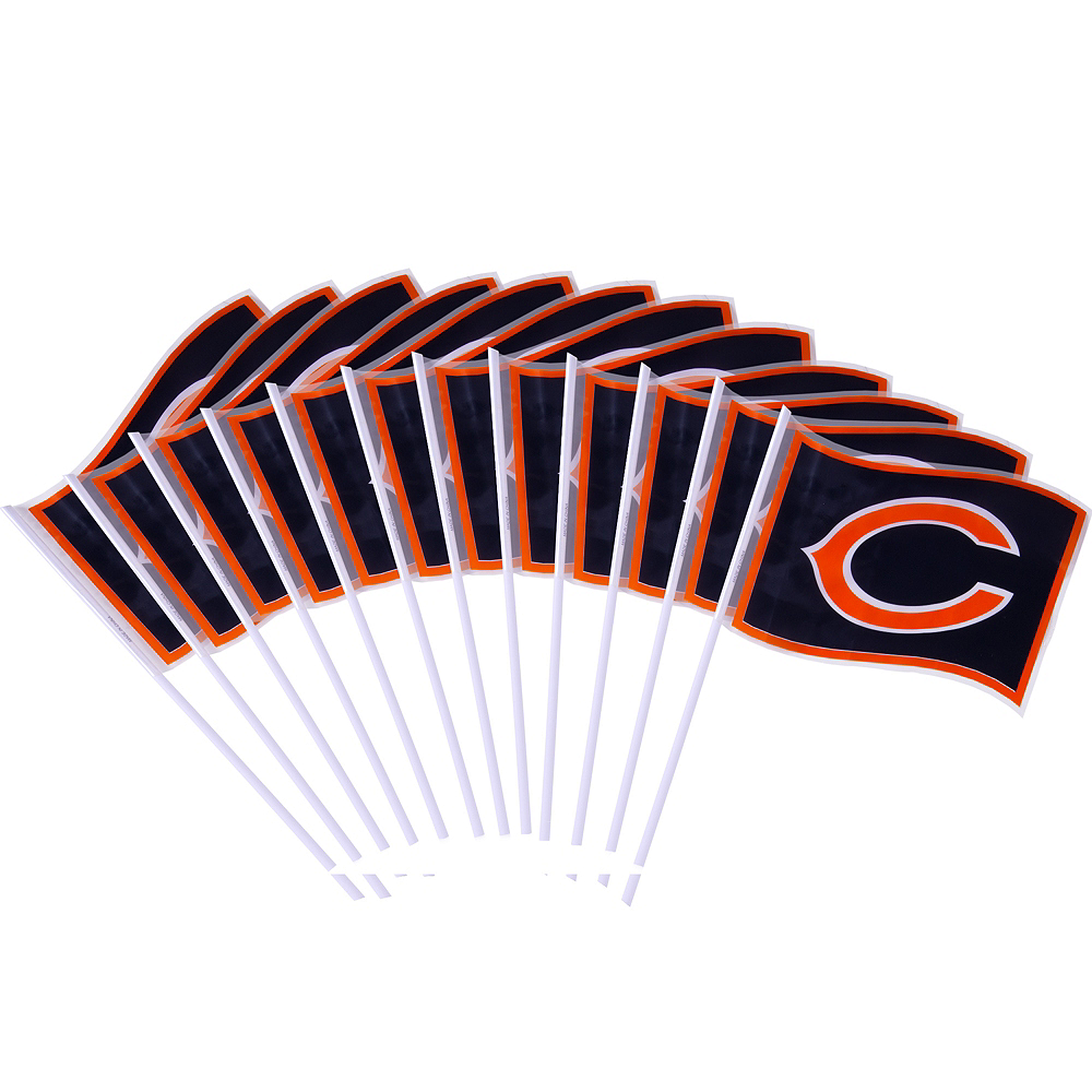 Chicago Bears Flags 12ct Image #1