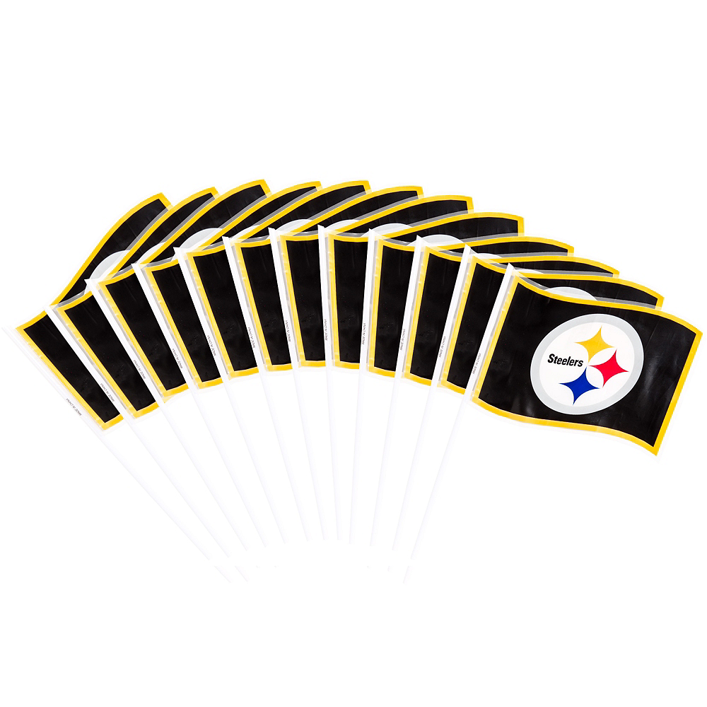 Nav Item for Pittsburgh Steelers Flags 12ct Image #1