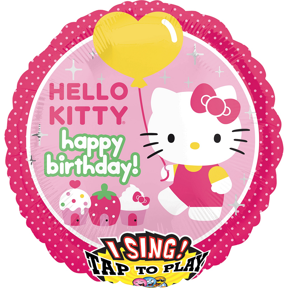 Nav Item for Hello Kitty Balloon - Singing, 28in Image #1