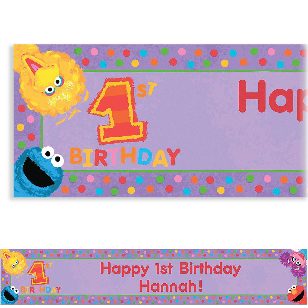 Custom Sesame 1st Birthday Banner 6ft Image #1