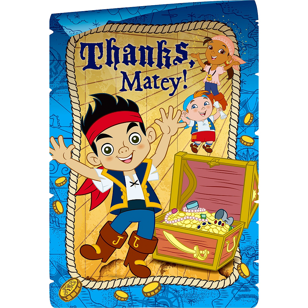 Jake and the Never Land Pirates Thank You Notes 8ct Image #1