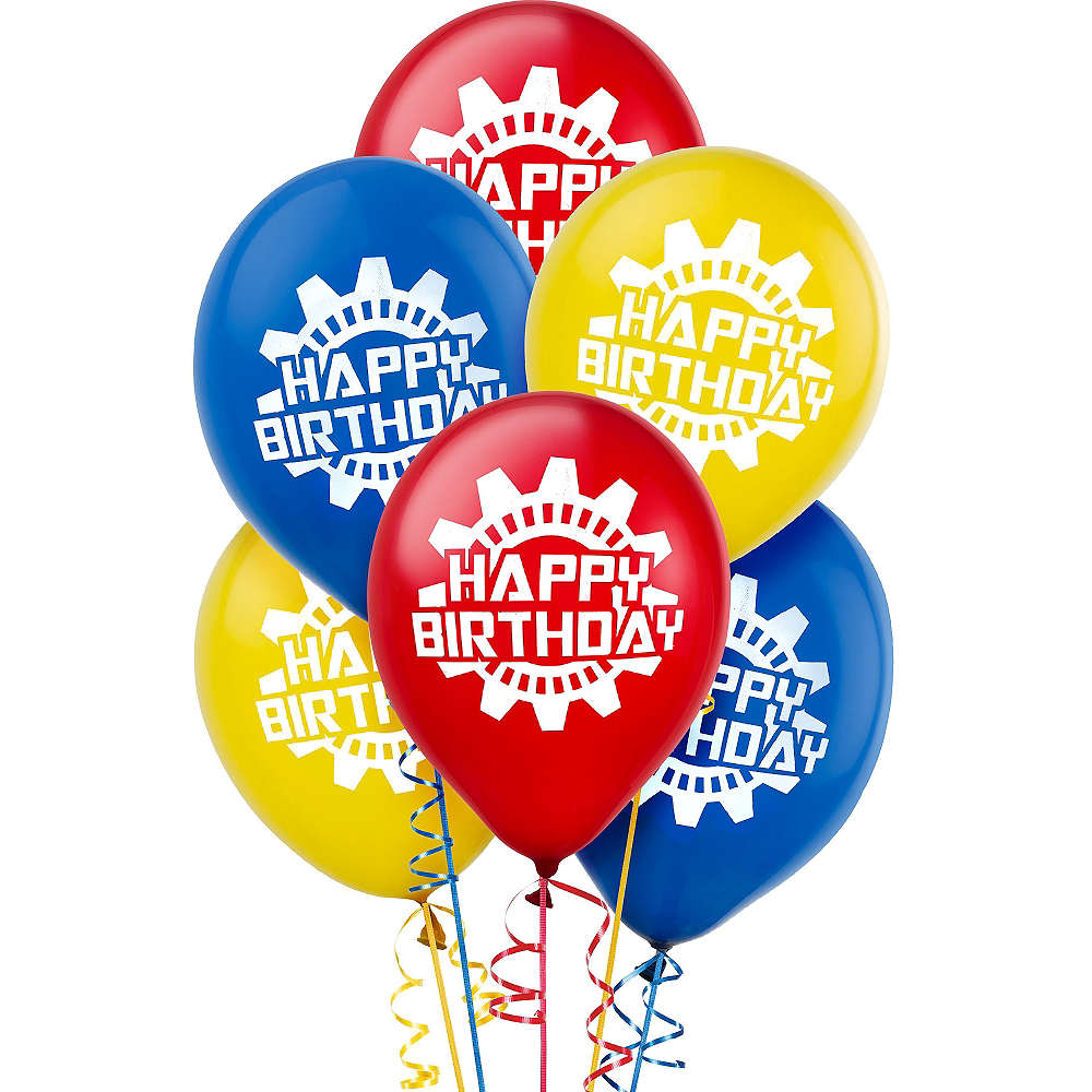 Machine Birthday Balloons 6ct Image #1