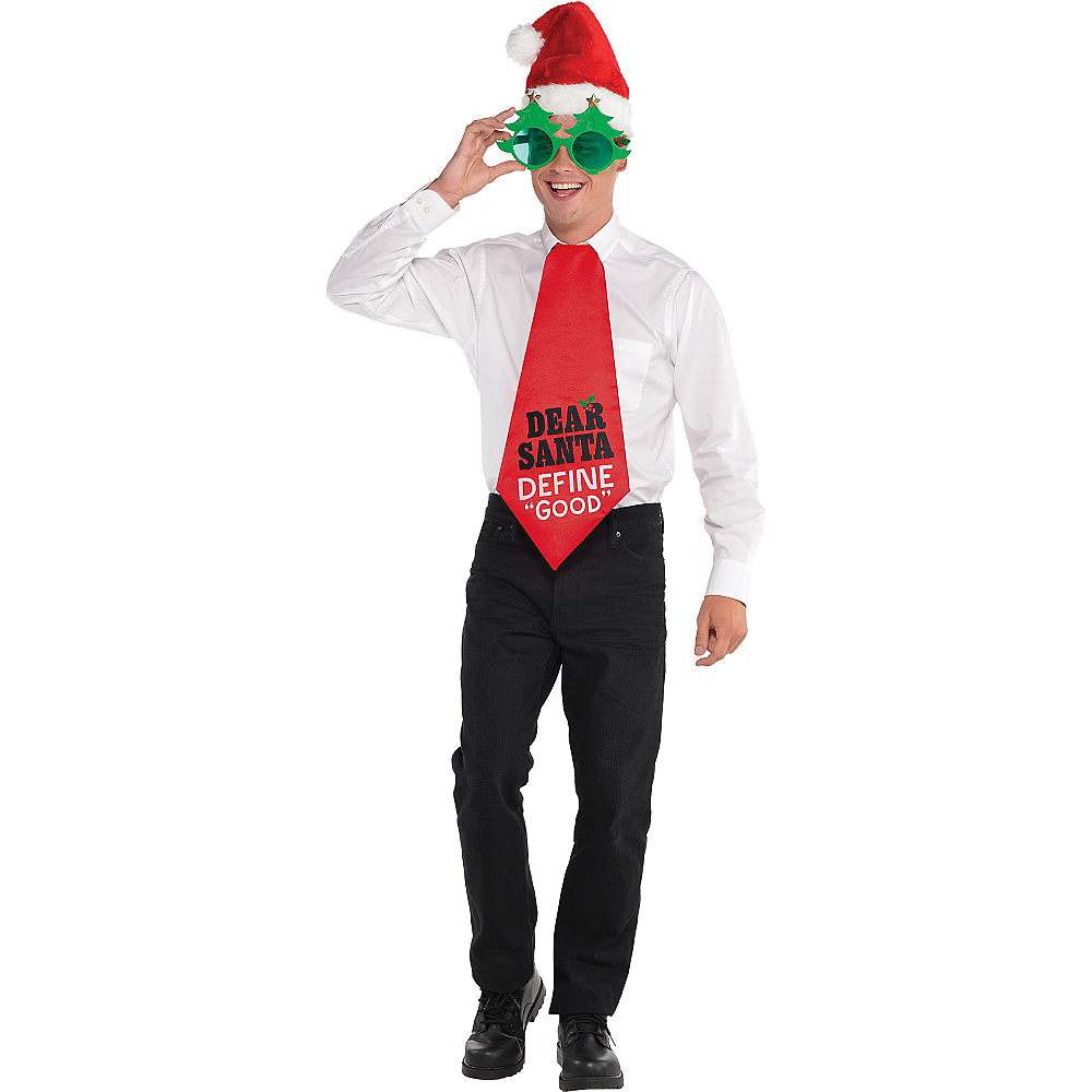Nav Item for Dear Santa Jumbo Christmas Tie Image #2