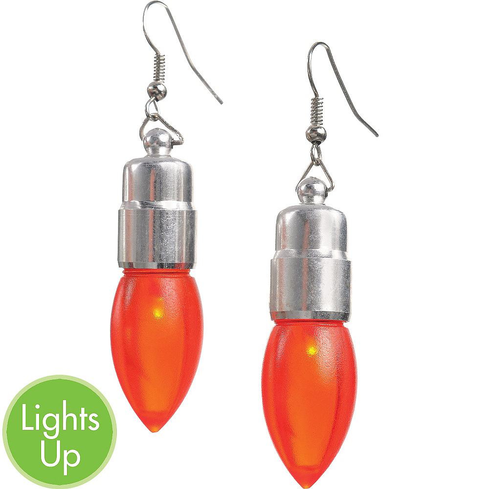 Light-Up Christmas Bulb Earrings | Party City