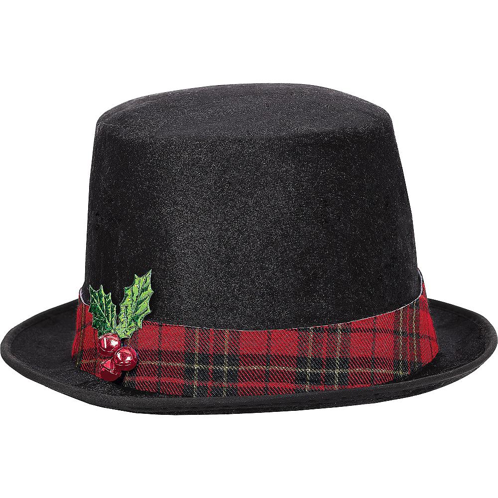 Snowman Black Top Hat Image #1