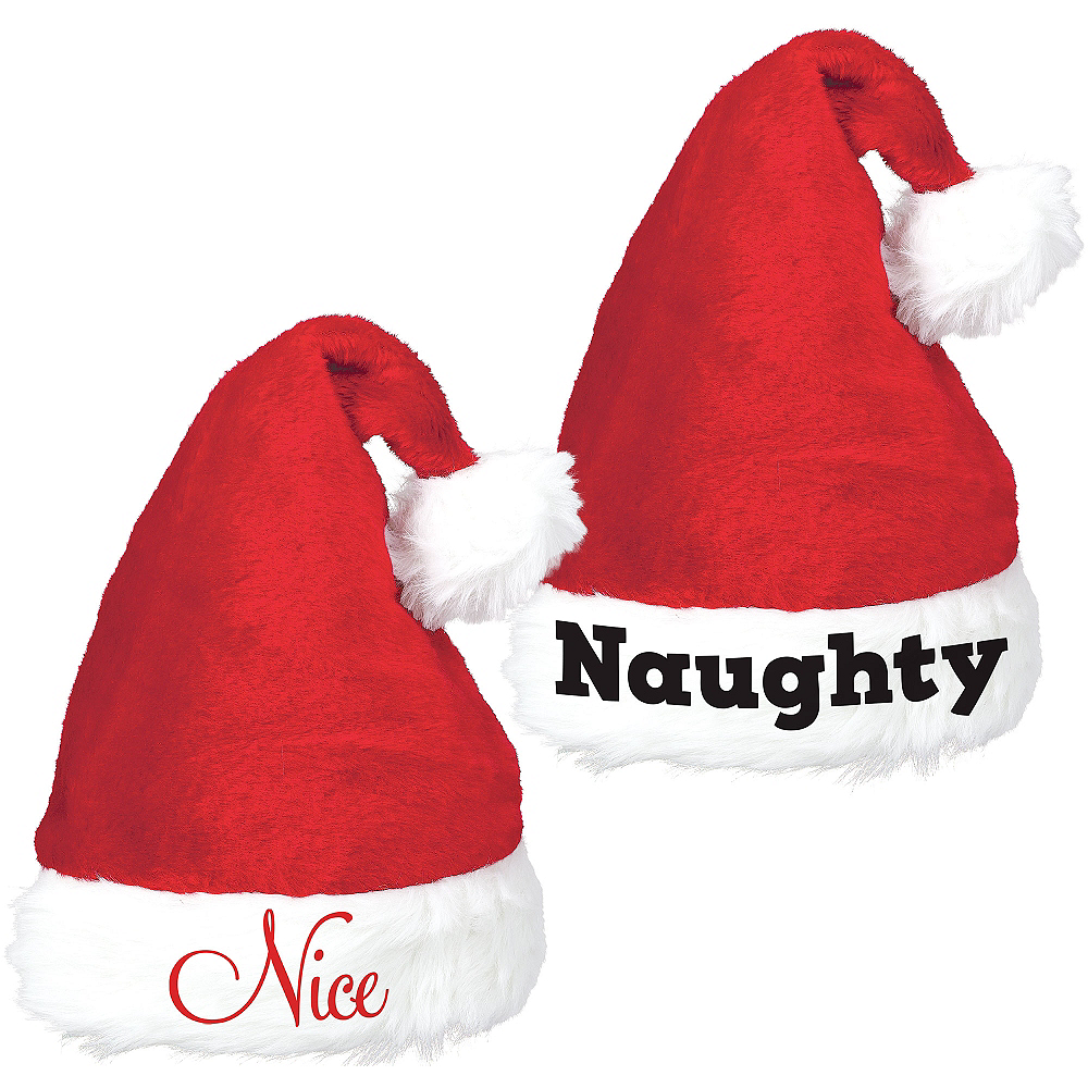 Naughty & Nice Santa Hat Set 2pc Image #1