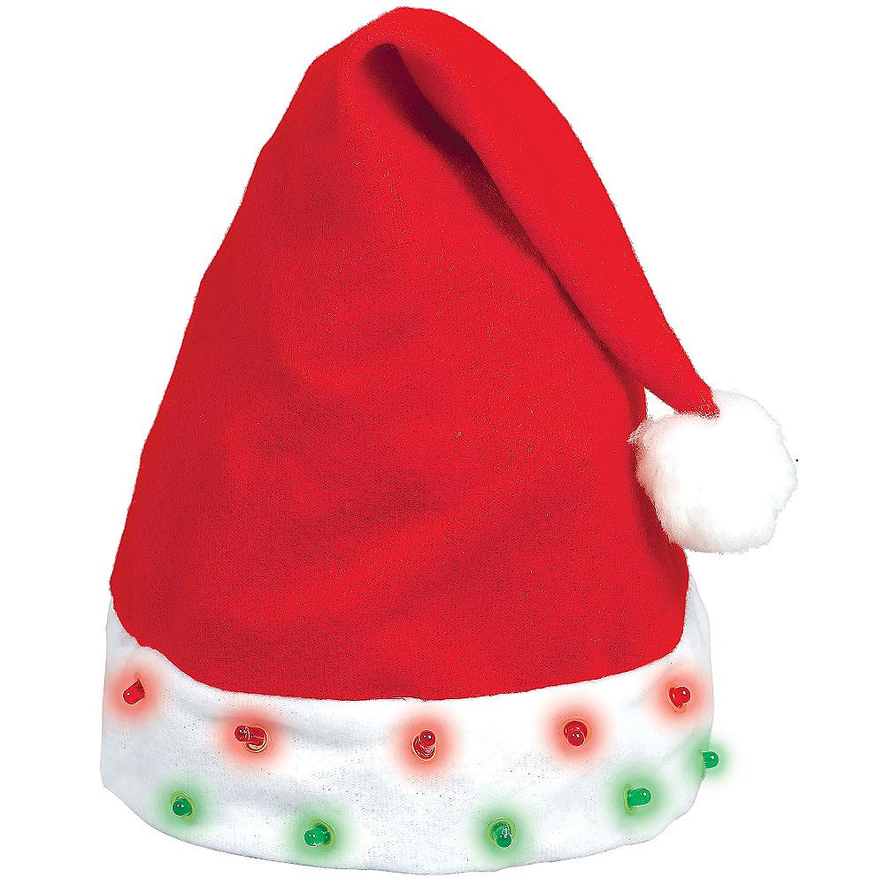 58886c7646de42 Plush Light-Up Santa Hat | Party City Canada