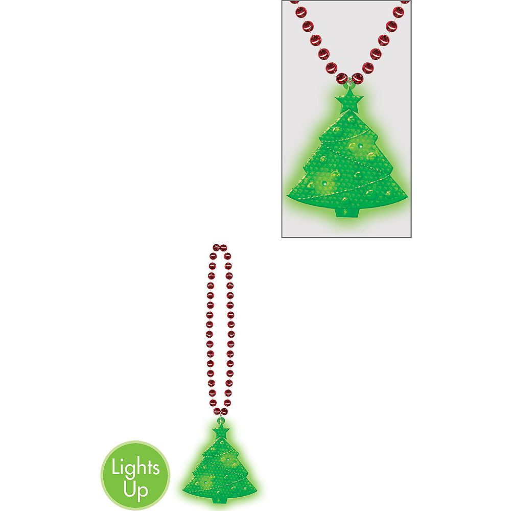 Light Up Christmas Necklace.Light Up Christmas Tree Pendant Necklace