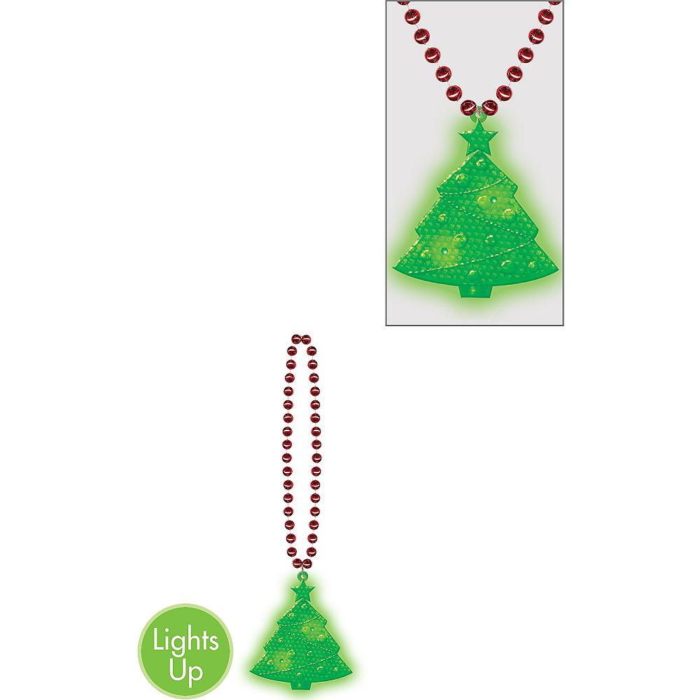 Light-Up Christmas Tree Pendant Necklace Image #1