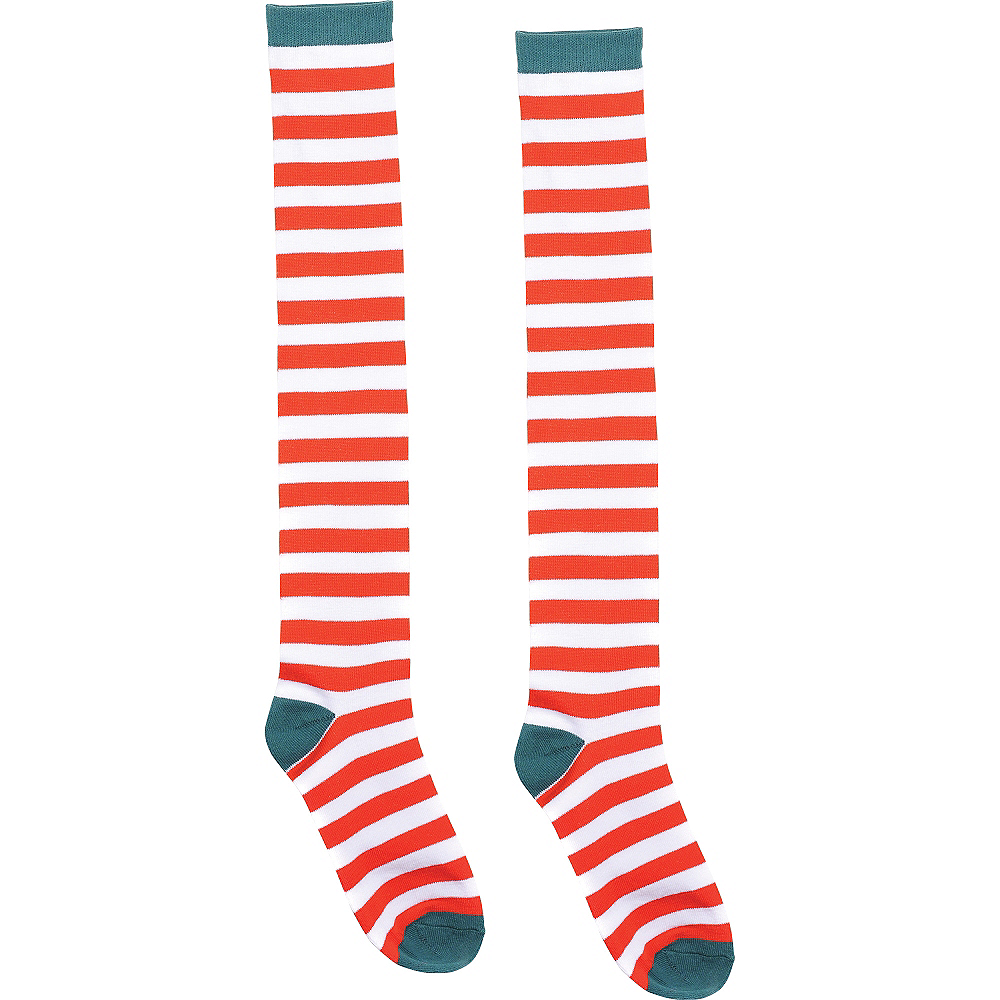 Candy Cane Striped Knee Socks Image #2