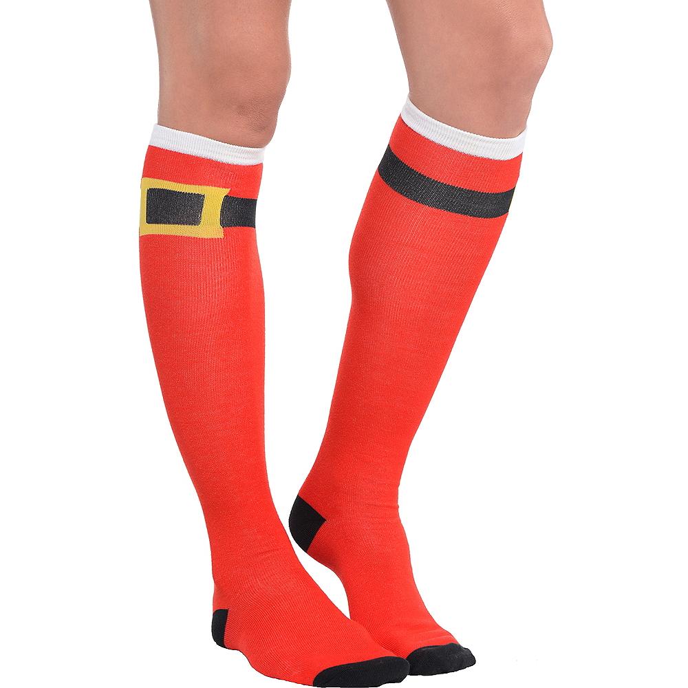 Santa Belt Knee Socks Image #1