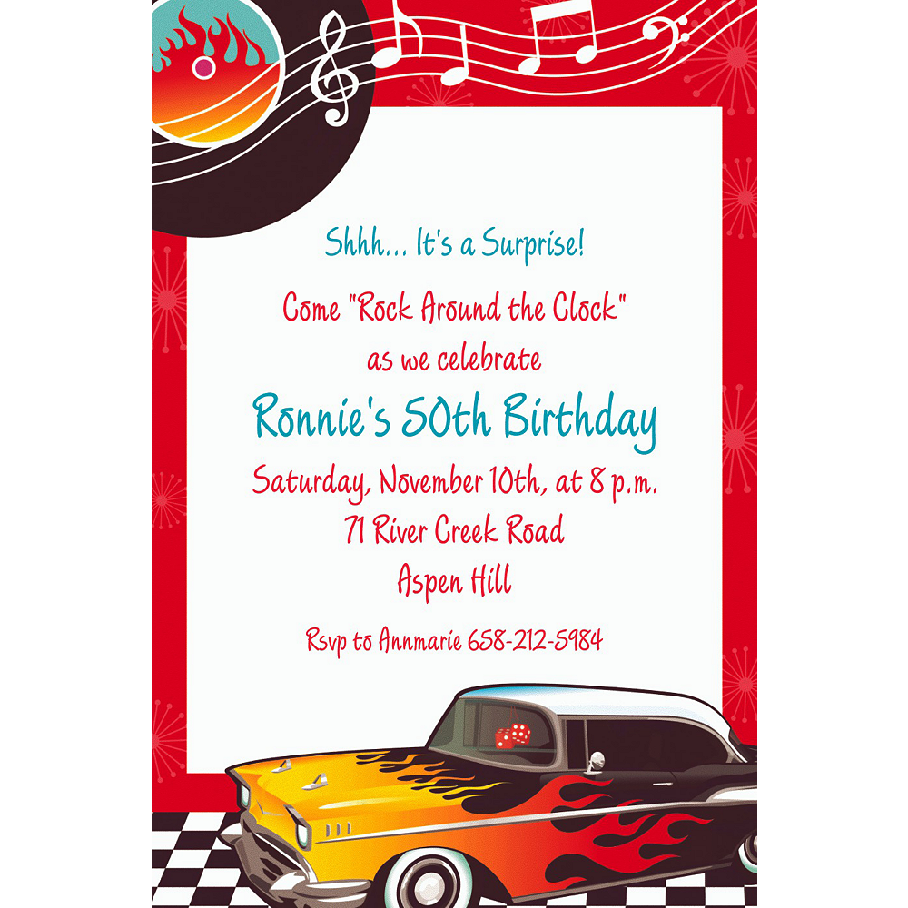 Custom Classic '50s Invitations Image #1