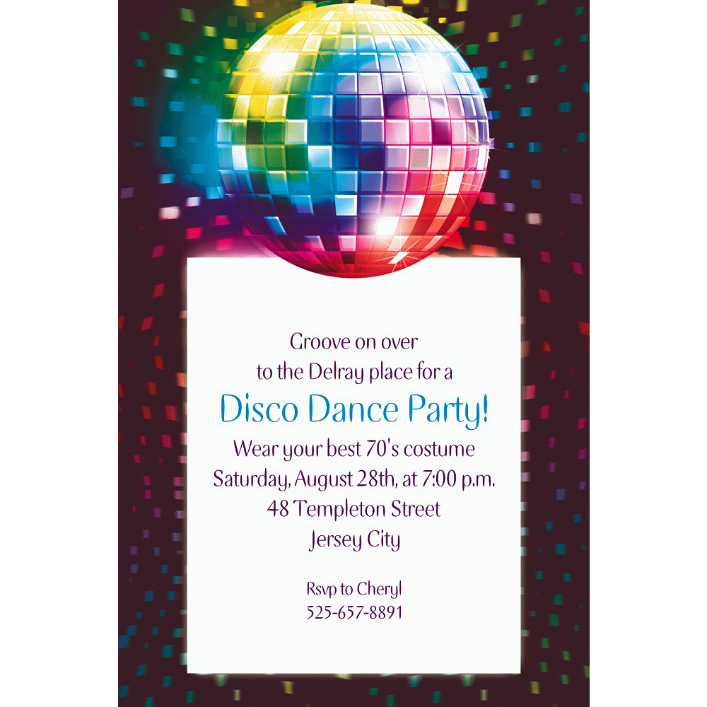 Custom Disco Fever Invitations | Party City