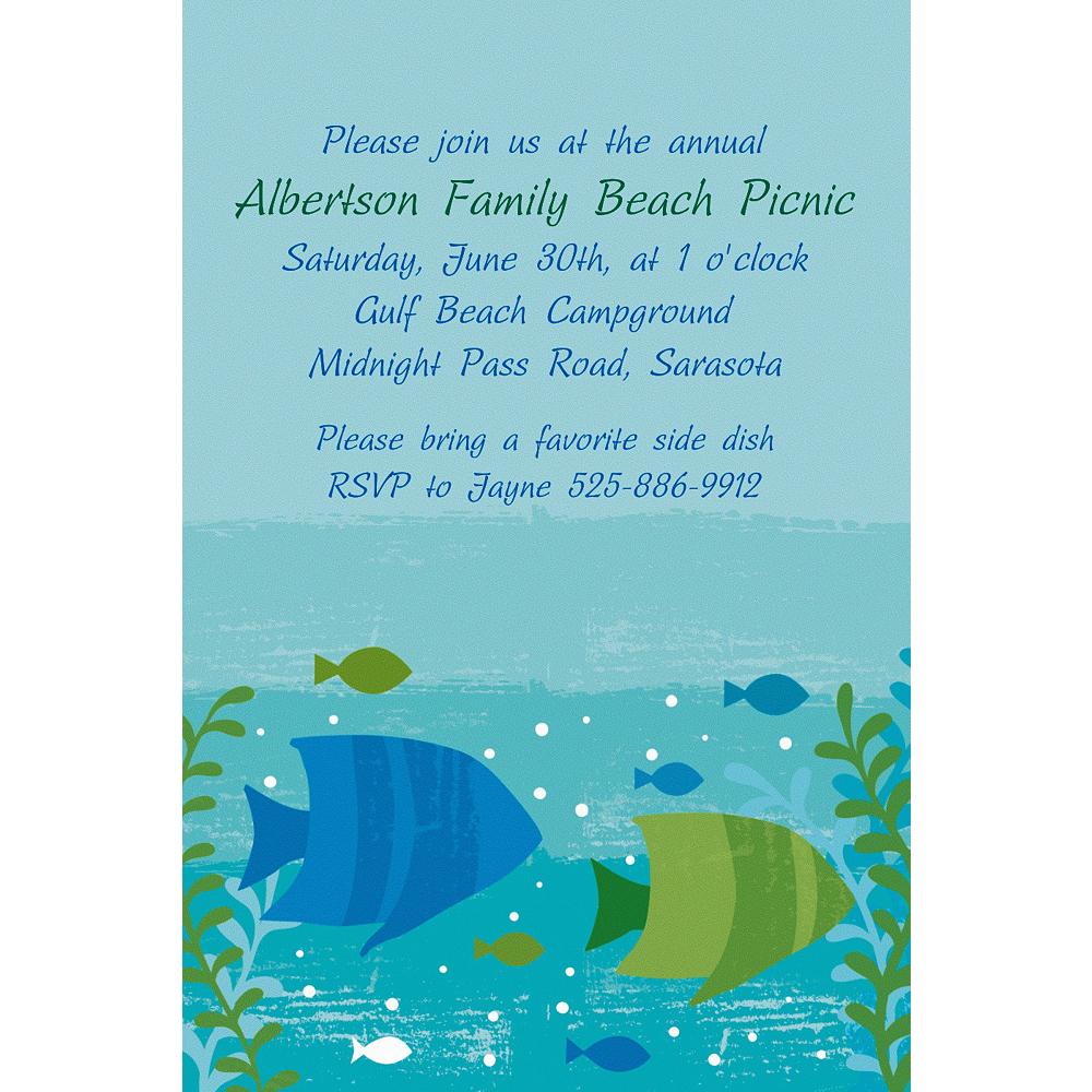 Custom Cool Sea Invitations Image #1