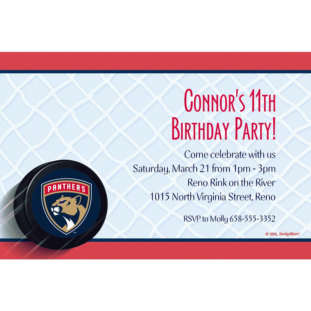 Custom Florida Panthers Invitations Image #1