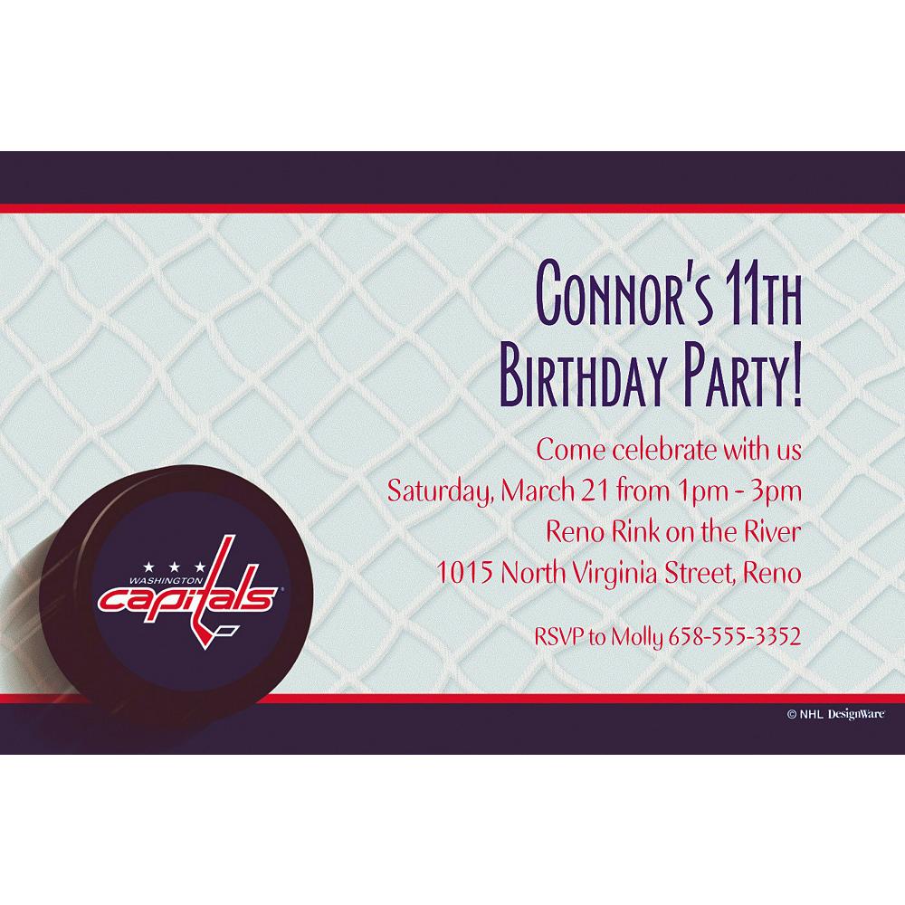 Custom Washington Capitals Invitations Image #1