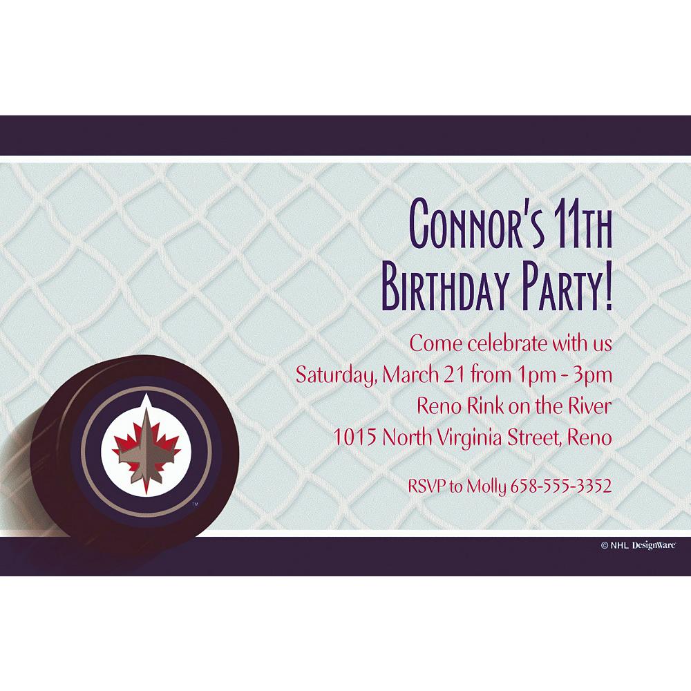 Custom Winnipeg Jets Invitations Image #1