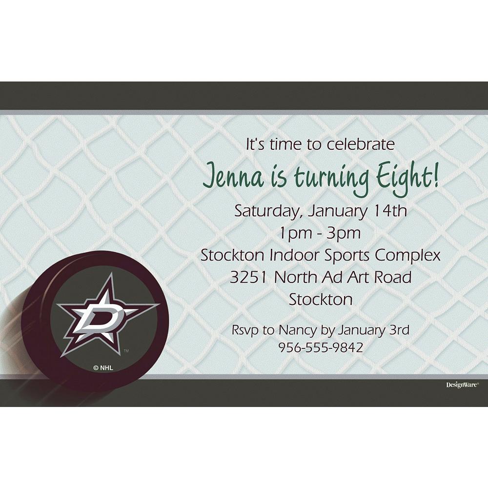Custom Dallas Stars Invitations Image #1