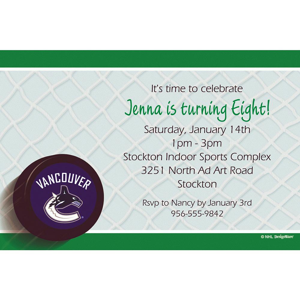 Custom Vancouver Canucks Invitations Image #1