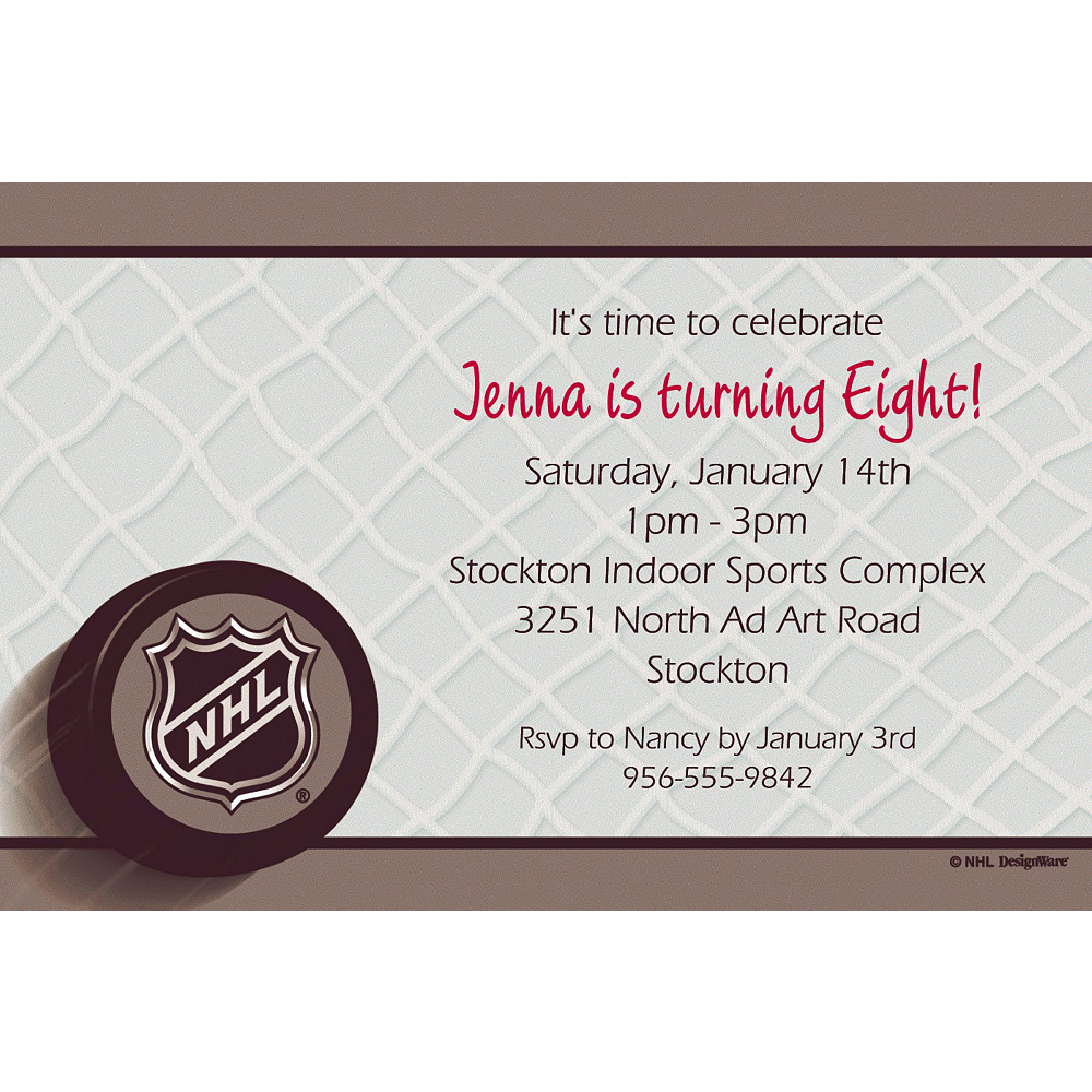 Custom Ice Time Invitations Image #1