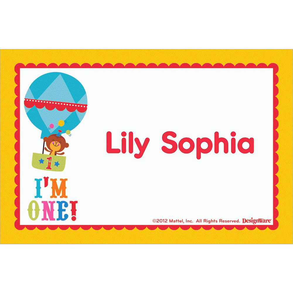 Custom Fisher Price 1st Birthday Thank You Notes Image #1