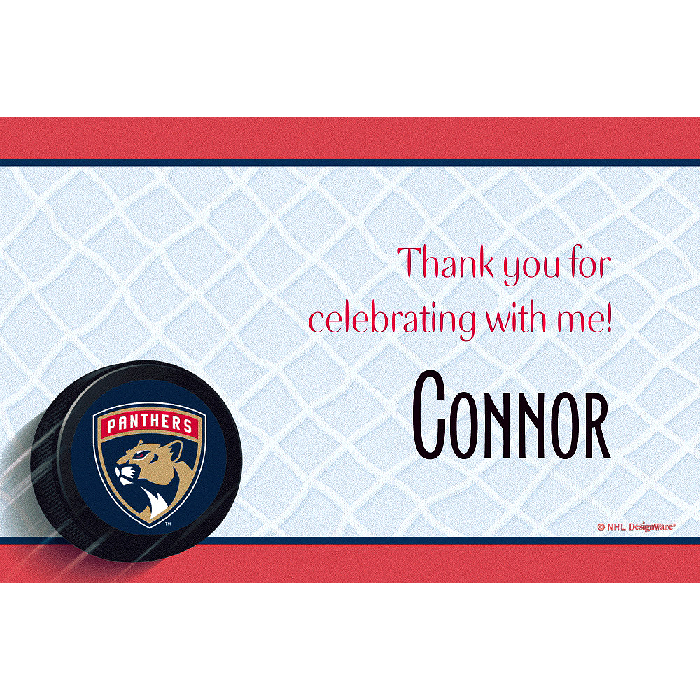 Custom Florida Panthers Thank You Notes Image #1