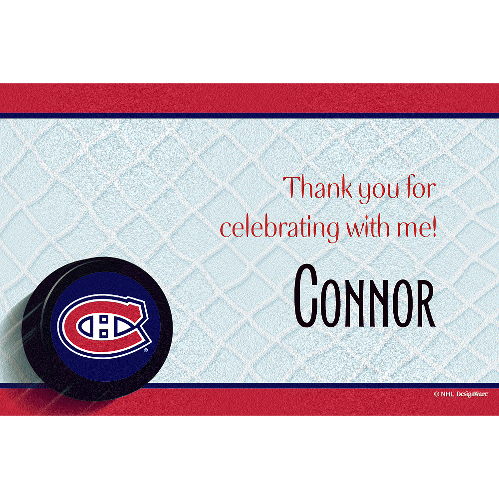 Custom Montreal Canadiens Thank You Notes  Image #1