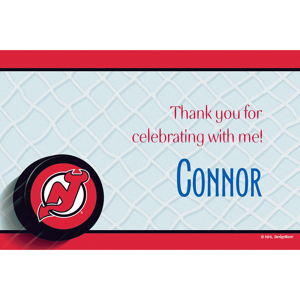 Custom New Jersey Devils Thank You Notes  Image #1