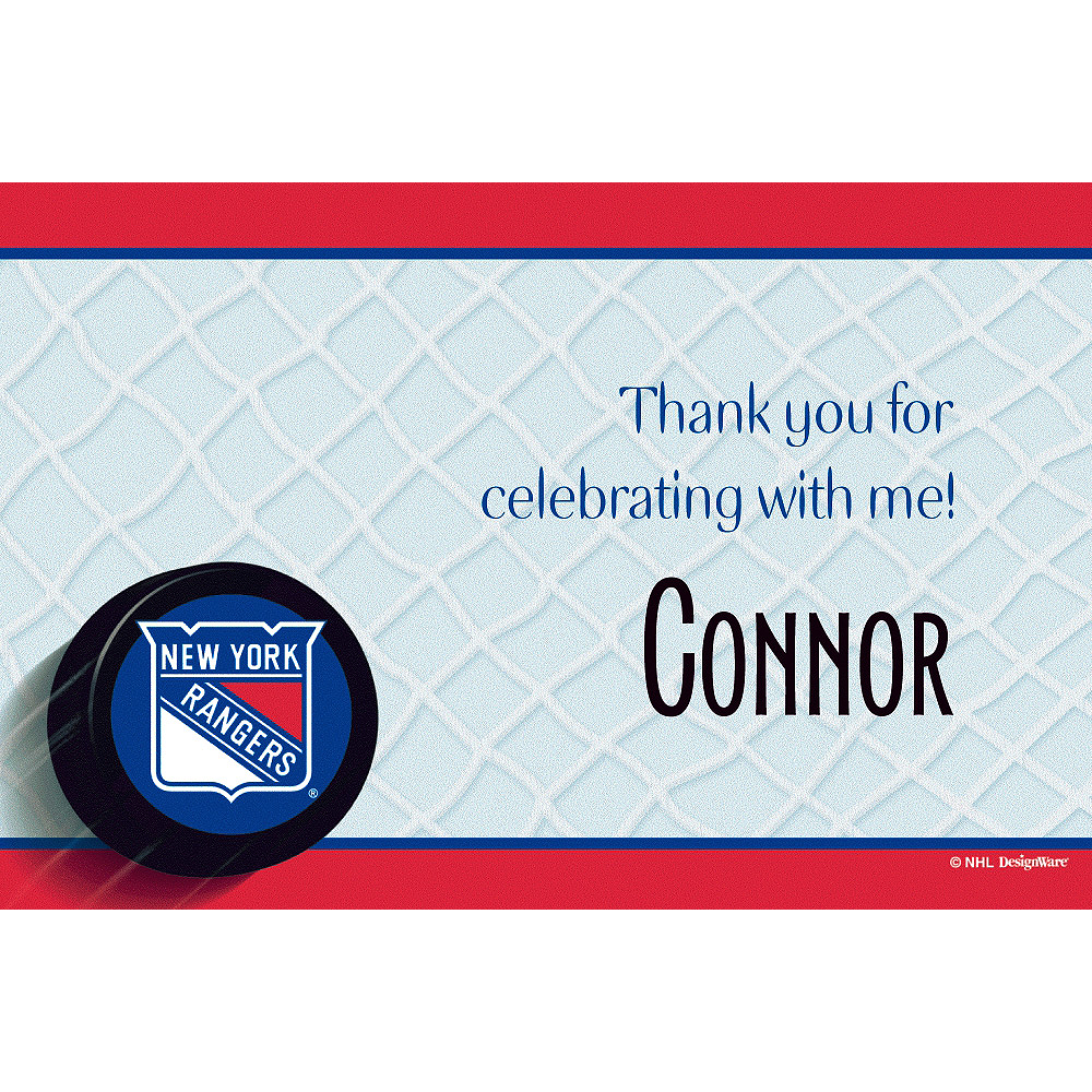 Custom New York Rangers Thank You Notes Image #1