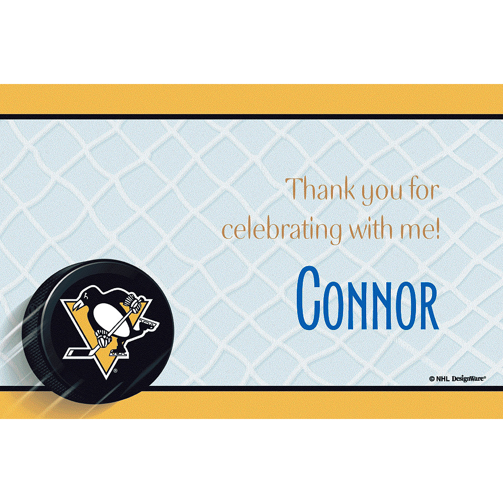 Custom Pittsburgh Penguins Thank You Notes Image #1