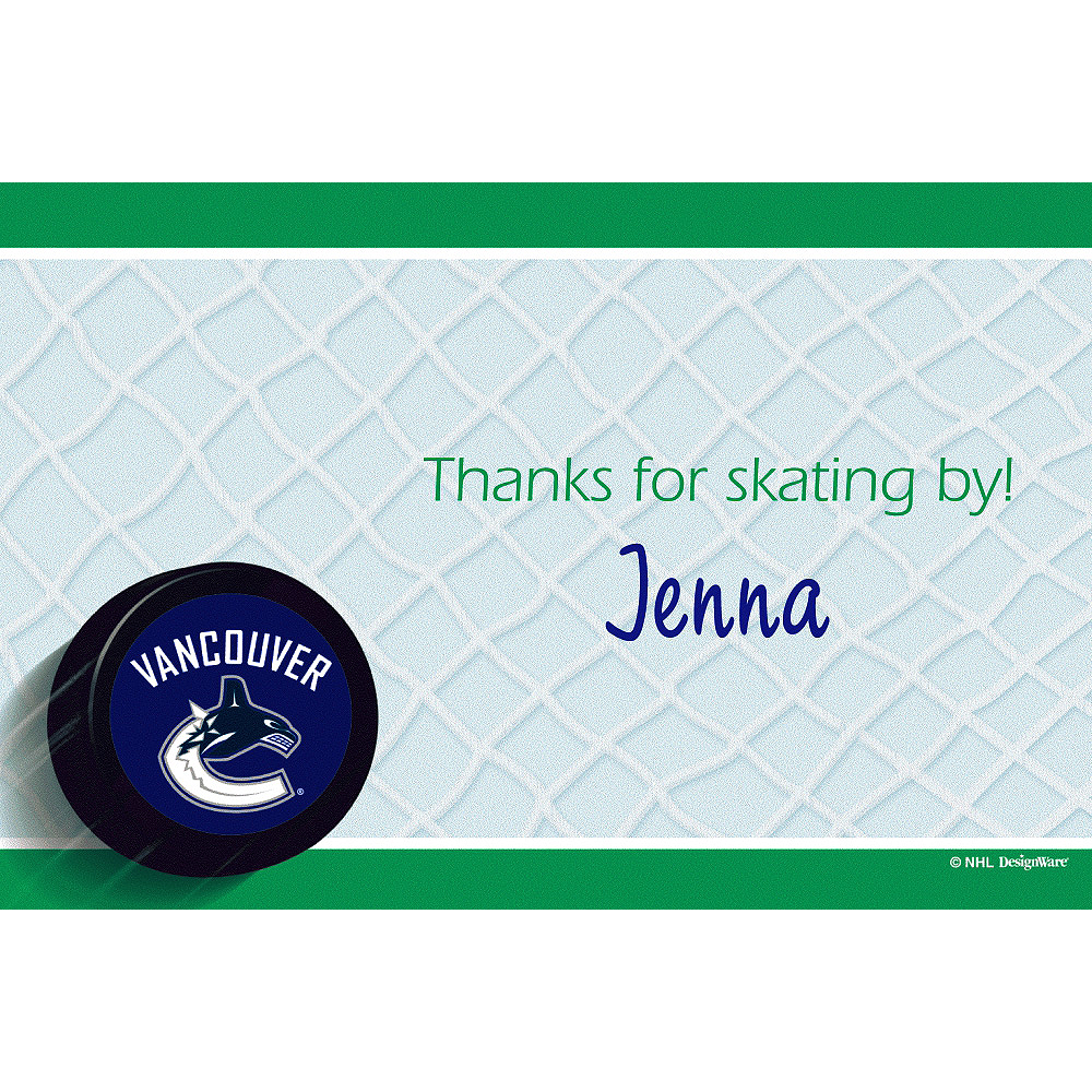 Custom Vancouver Canucks Thank You Notes  Image #1