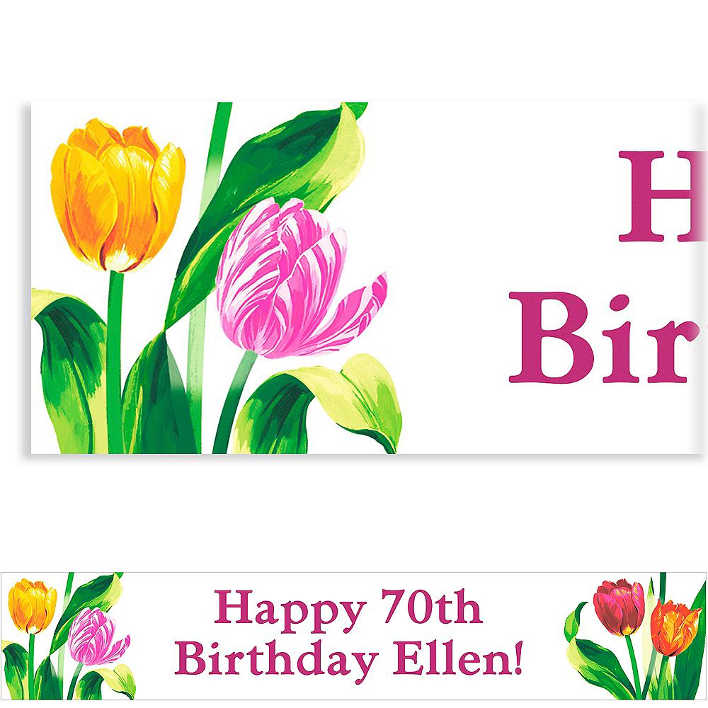 Custom Spring Tulips Banner 6ft Image #1