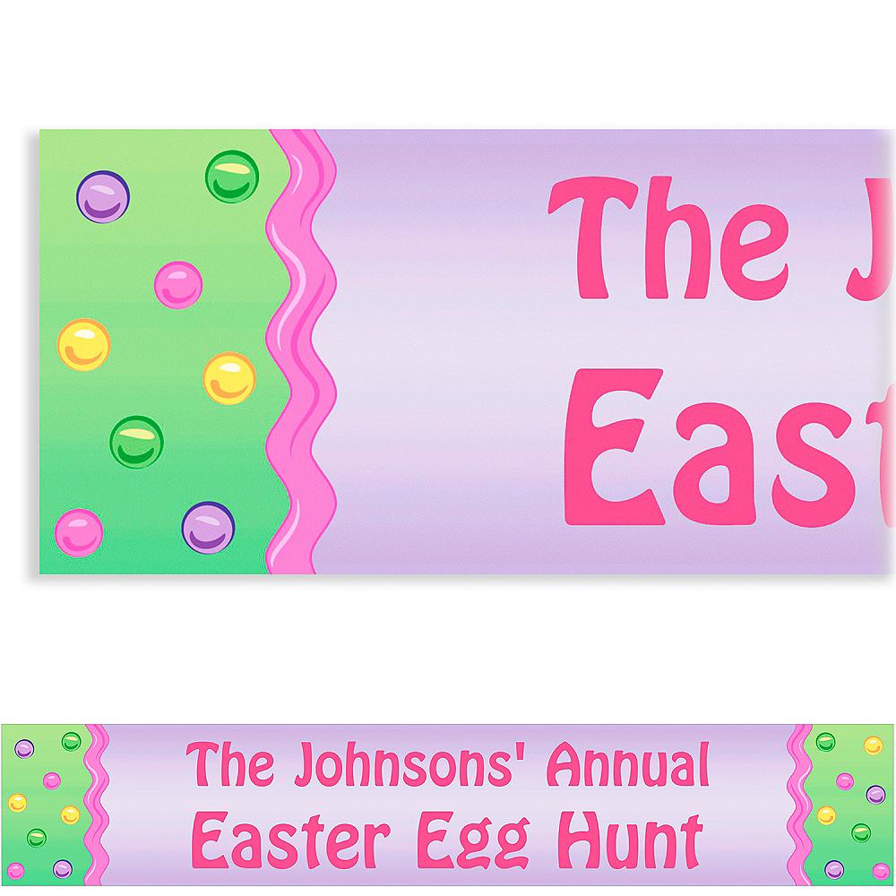 Custom Happy Easter Egg Banner 6ft Image #1