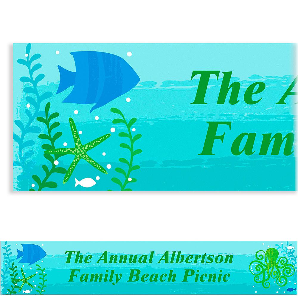 Custom Cool Sea Banner 6ft Image #1