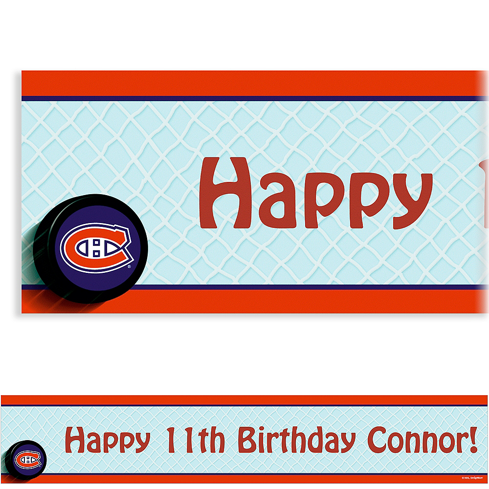Custom Montreal Canadiens Banner 6ft Image #1