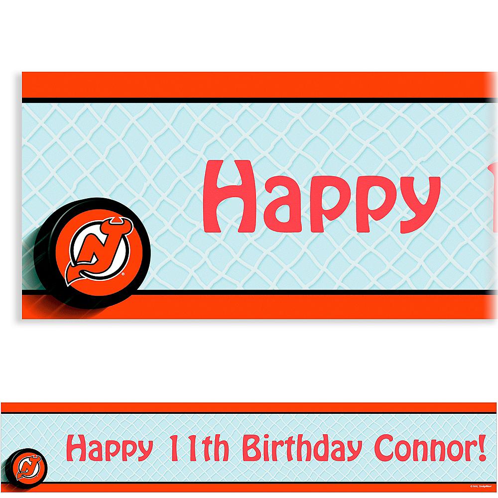 Custom New Jersey Devils Banner 6ft Image #1